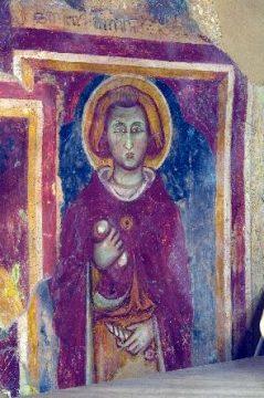 Un Santo (dipinto murale di Scuola privernate, secolo XIV)