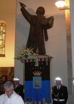 Statua di San Marco venerata nella cattedrale di Latina